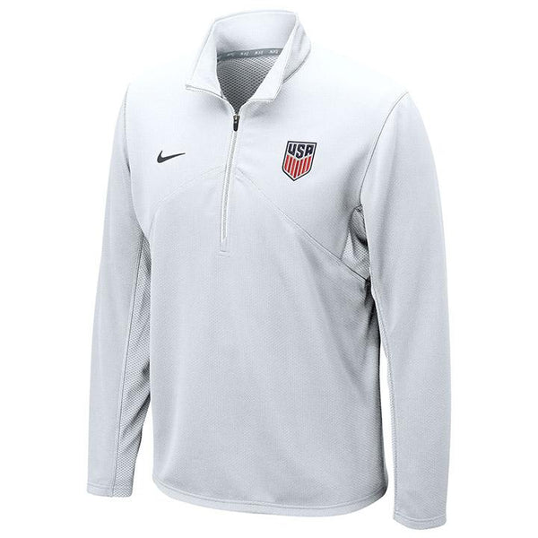Nike Dri-Fit Training White 1/4 Zip Top