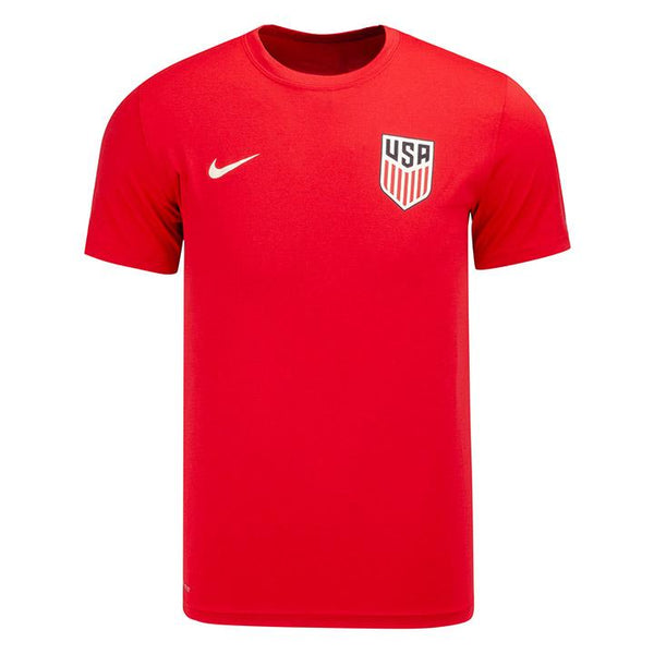 MEN'S NIKE USA CREST LEFT CHEST LEGEND 2.0 DRI-FIT TEE - RED