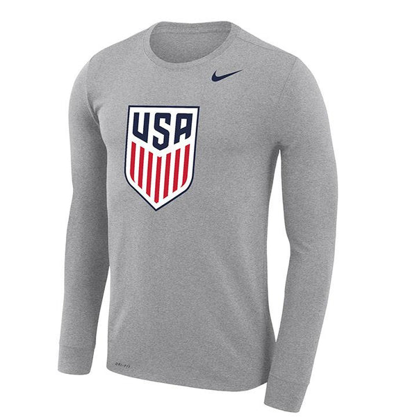 Nike Grey Legend Long Sleeve Tee