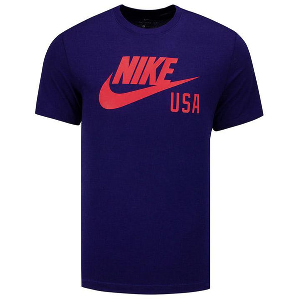 Men's Nike USA Swoosh Blue Ground Tee
