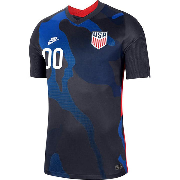 Personalized Men's Nike USMNT Away Navy Jersey