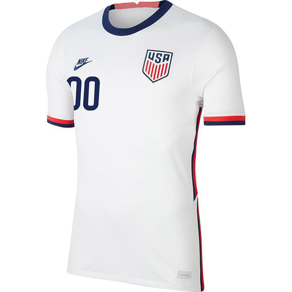 Personalized Men's Nike USMNT Home White Jersey