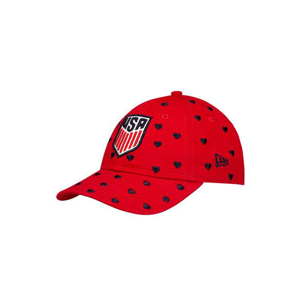 Youth Girls New Era USA 9Twenty Lovely Fan Red Hat