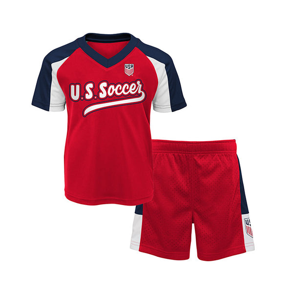 Toddler Outerstuff USA Shooter 2 Piece Red Set