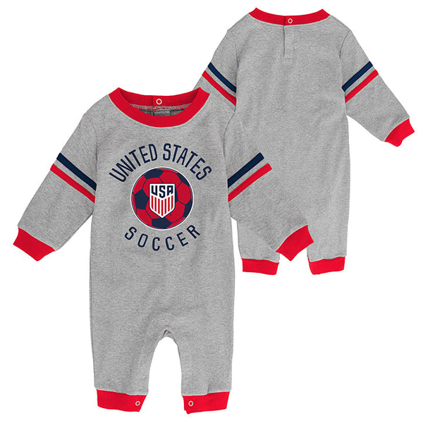 Infant Outerstuff USA LS Grey Coverall
