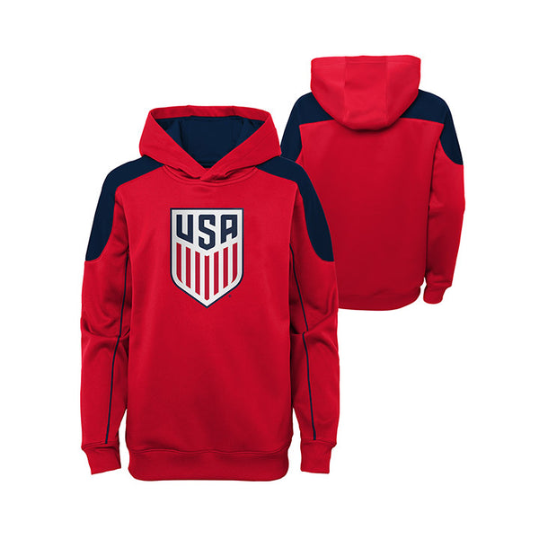 Youth Junior Outerstuff USA Face Off Red Hoody