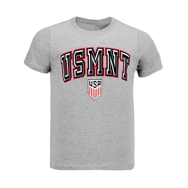 Youth Outerstuff USMNT Solid Bevel Grey Tee