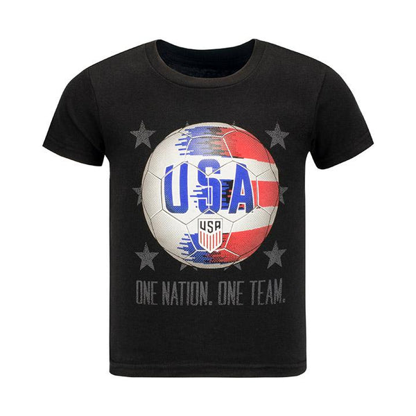 Youth JR Outerstuff USA Crest World Stars Black Tee
