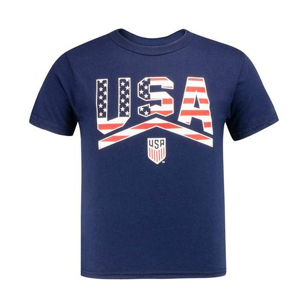 Youth JR Outerstuff USA All Rise Navy Tee