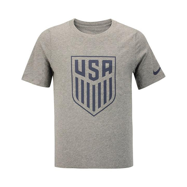 YOUTH NIKE CREST USA T-SHIRT - GREY