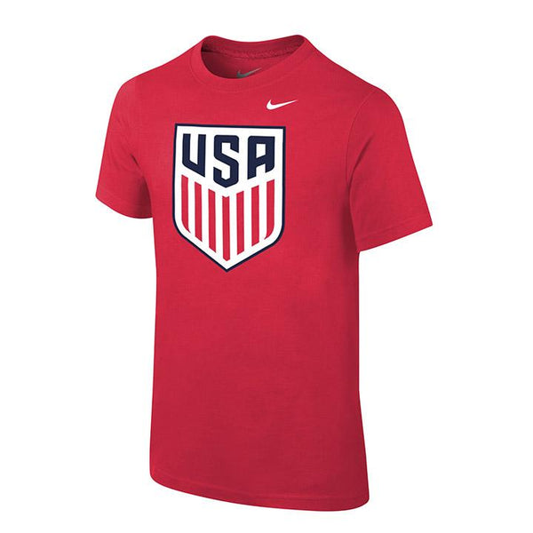 YOUTH NIKE USA CREST TEE - RED