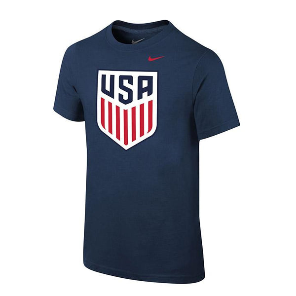 YOUTH NIKE USA CREST TEE - NAVY