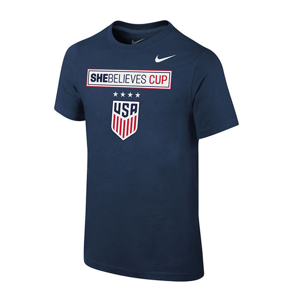 Youth Nike USWNT SBC Navy Tee