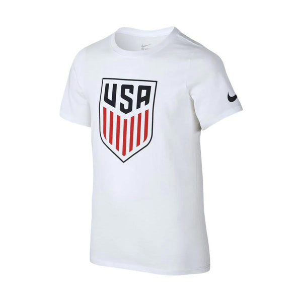 YOUTH NIKE CREST USA TEE WHITE