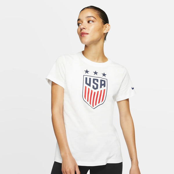 WOMENS USA NIKE 3-STAR CREST SS TEE - WHITE
