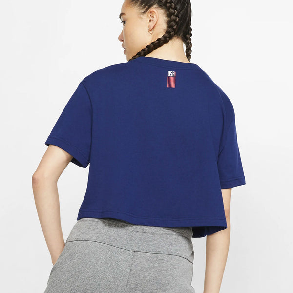 Women's Nike USA Squad Navy Tee