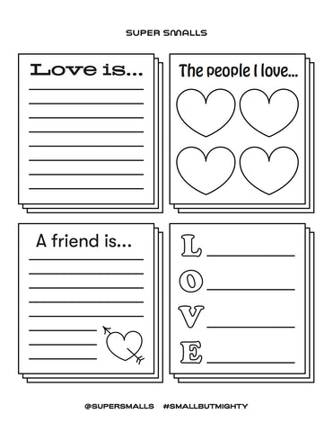 Valentine's Day Love Activity Sheet | Super Smalls