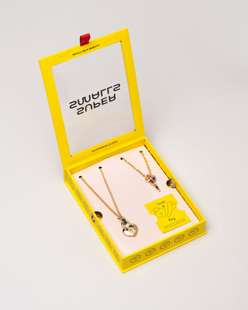 "Lock & Key ""Mommy & Me"" Necklace Set"