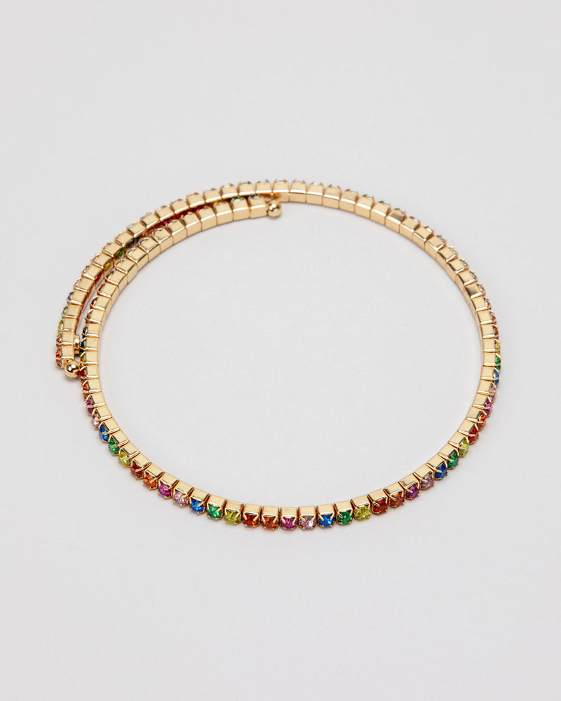 Rainbow Rave Wrap-Around Necklace