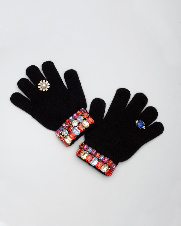 Ice Skating Jeweled Gloves