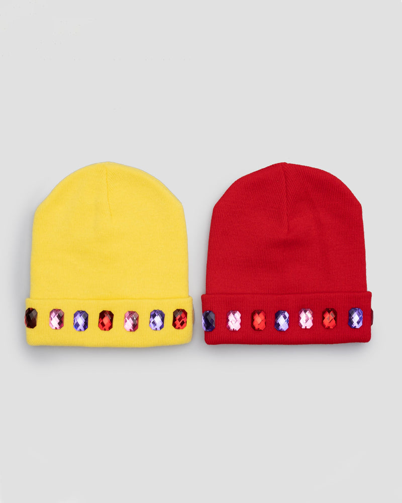 Snowball Fight Beanie Hat Set