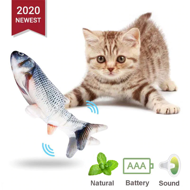 fish interactive cat toy