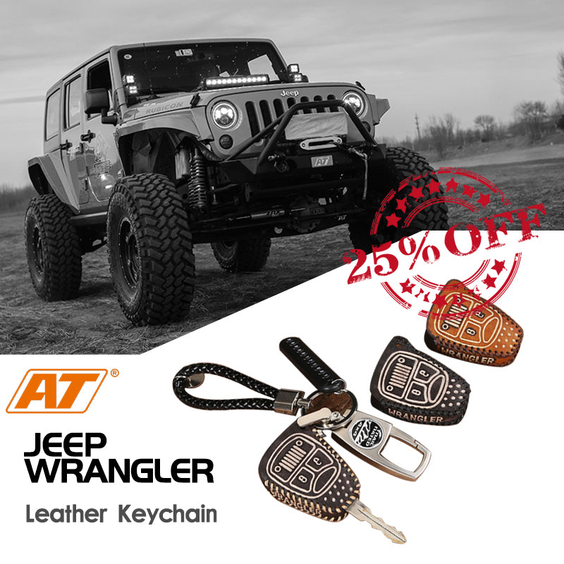 Jeep Wrangler JK/JL Leather Keychain