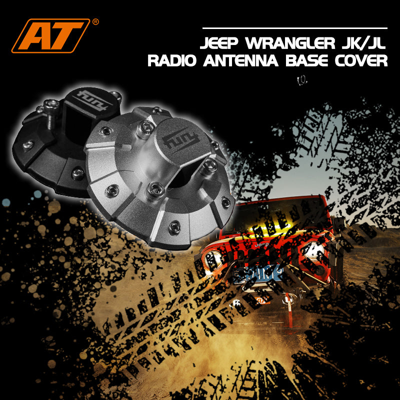 Jeep Wrangler JK/JL Radio Antenna Base Cover (ABS & Aluminum Alloy)