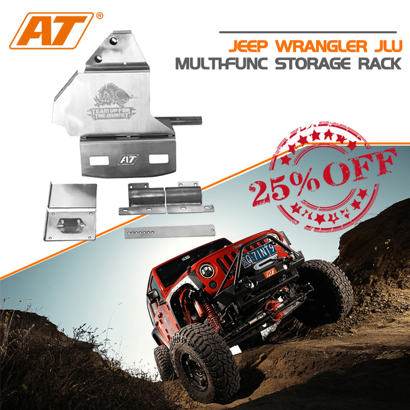 Agiletitan Jeep Wrangler JLU Multi-Func Storage Rack