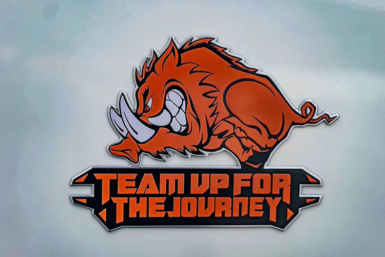 Team up for the journey Metal Off-Road Sticker