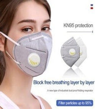 Load image into Gallery viewer, Face Mask with Respirator Reusable Non-Woven Fabric Dust Proof Anti Pollution Air Purifying