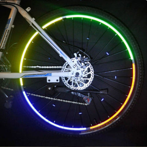 Bicycle Safety Wheel Rim Reflective Stickers