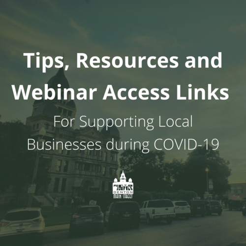 COVID-19 Tips, Resources and Webinar Access Links for Small Businesses