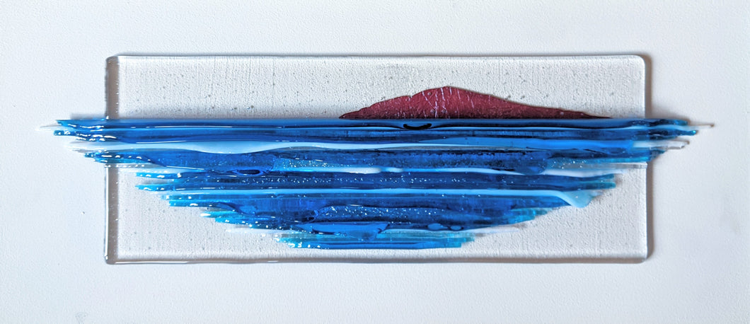 Bantham Burgh Island Fused Glass seascape