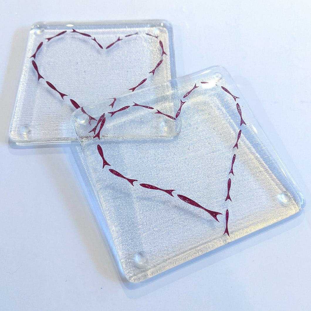 Fish Heart Coaster