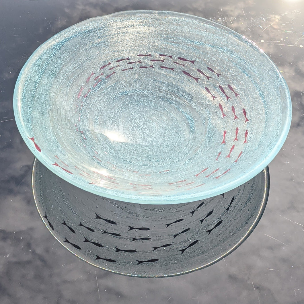 Medium Aqua Bubble Bowl