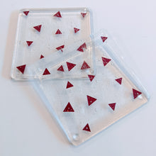 Load image into Gallery viewer, Triangles fused glass coaster
