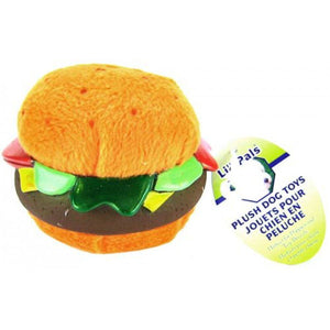 Li'l Pals Plush Hamburger Dog Toy Hamburger Dog Toy - All Pets Store
