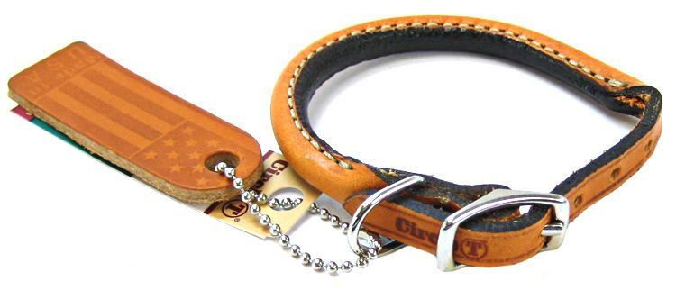 "Circle T Leather Round Collar - Tan 10"" Neck"