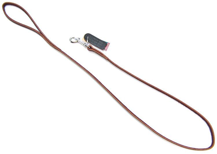 "Circle T Latigo Leather Lead 4' Long x 3/8"" Wide - All Pets Store"