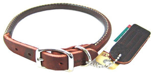 "Circle T Latigo Leather Round Collar 16"" Long x 5/8"" Wide - All Pets Store"