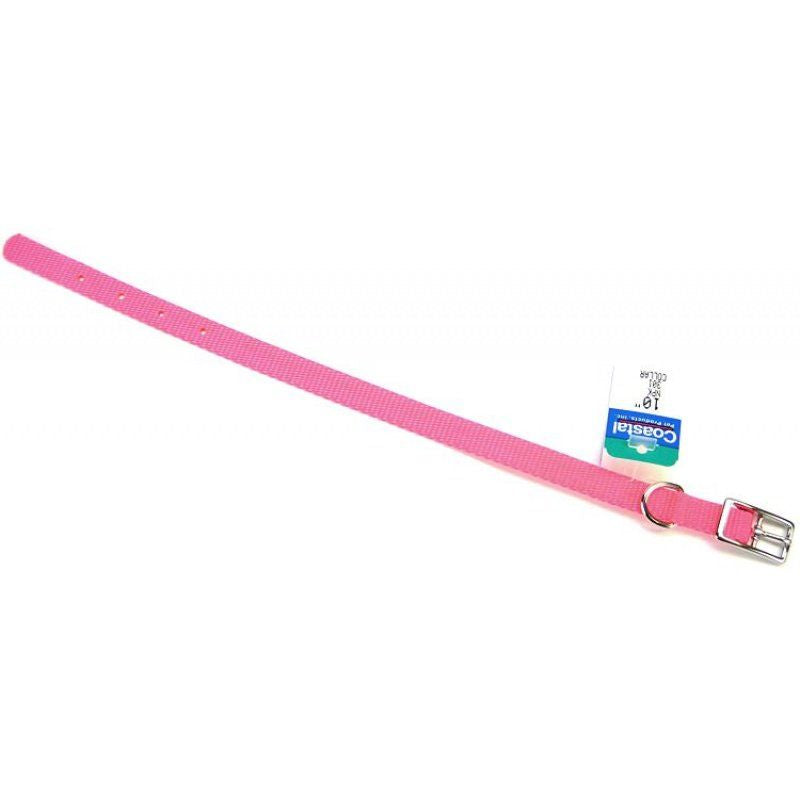 Coastal Pet Single Nylon Collar - Neon Pink 10