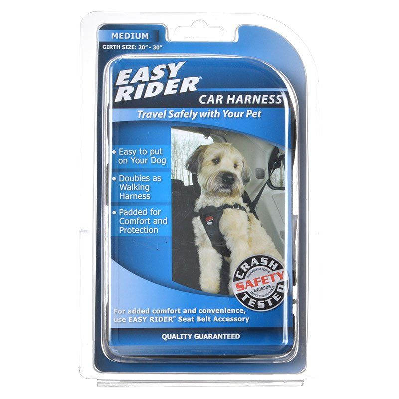 "Coastal Pet Easy Rider Car Harness - Black Medium (Girth Size 20""-30"") - All Pets Store"