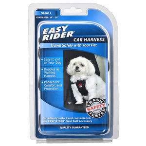 "Coastal Pet Easy Rider Car Harness - Black Small (Girth Size 16""-24"") - All Pets Store"