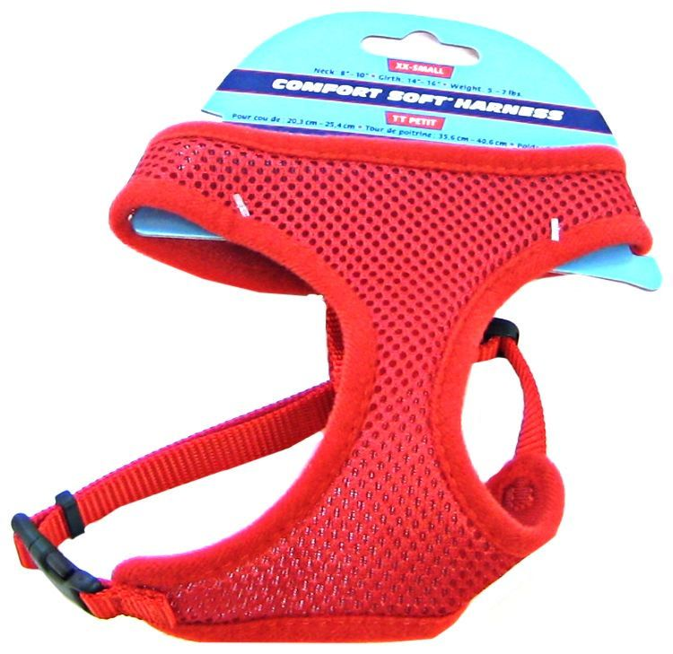 Coastal Pet Comfort Soft Adjustable Harness - Red Small - 3/8