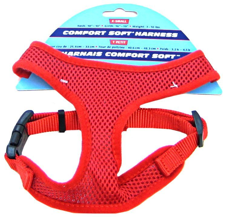 "Coastal Pet Comfort Soft Adjustable Harness - Red Small - 5/8"" Wide (Girth Size 19""-23"") - All Pets Store"