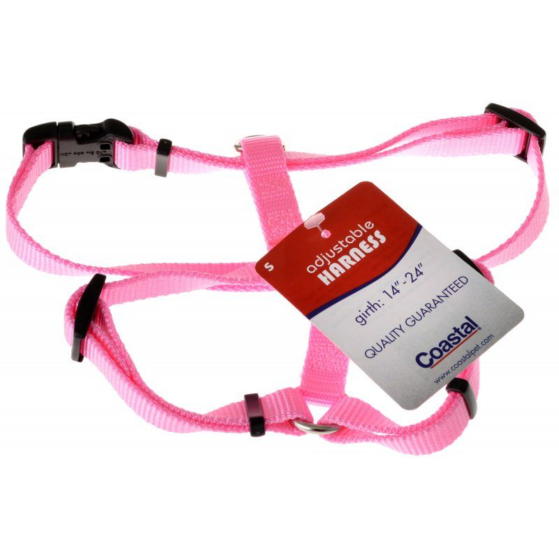Tuff Collar Nylon Adjustable Harness - Bright Pink Small (Girth Size 12