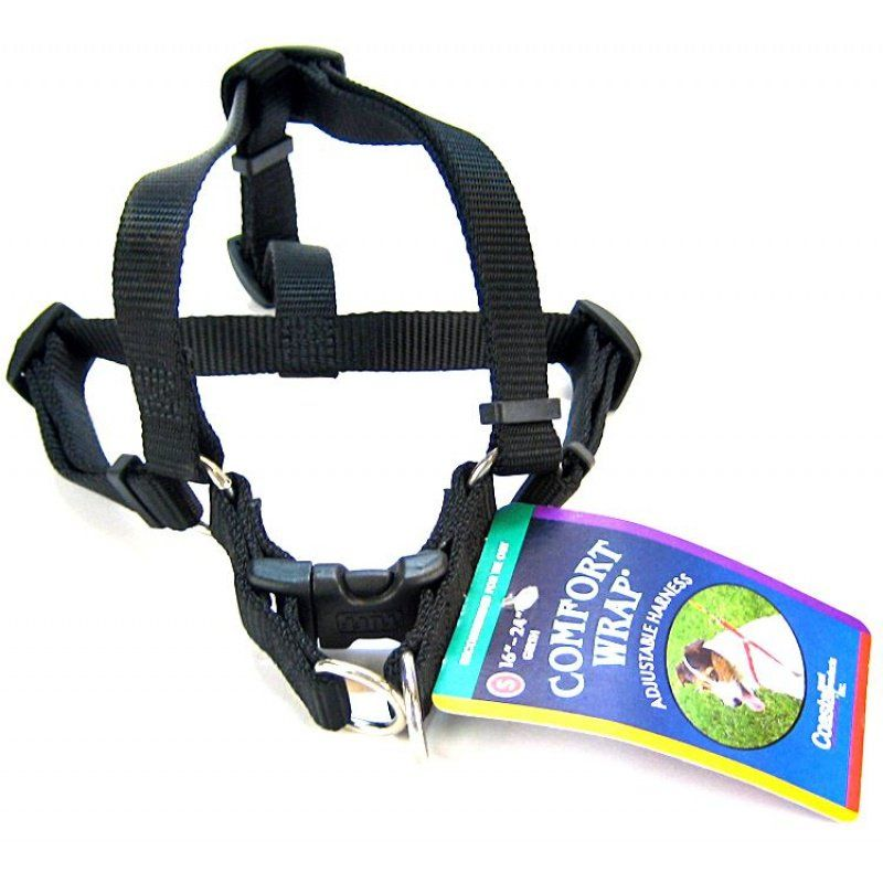 Tuff Collar Nylon Adjustable Comfort Harness - Black Small (Girth Size 16