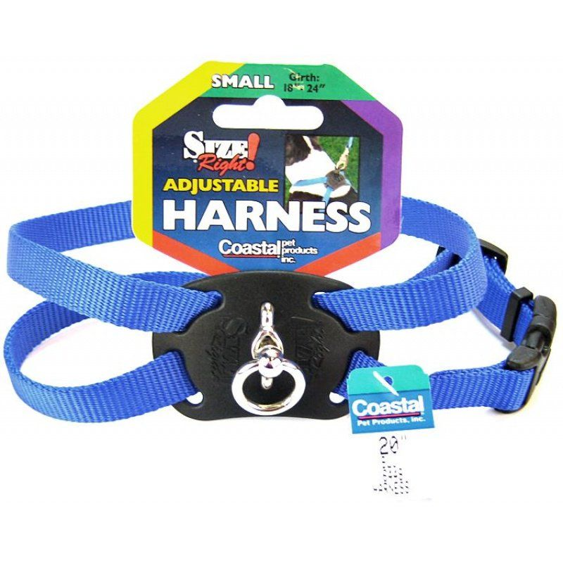 Coastal Pet Size Right Nylon Adjustable Harness - Blue Small (Girth Size 18