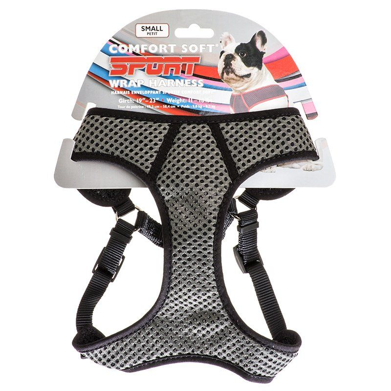 "Coastal Pet Sport Wrap Adjustable Harness - Black Small (Girth Size 19""-23"") - All Pets Store"